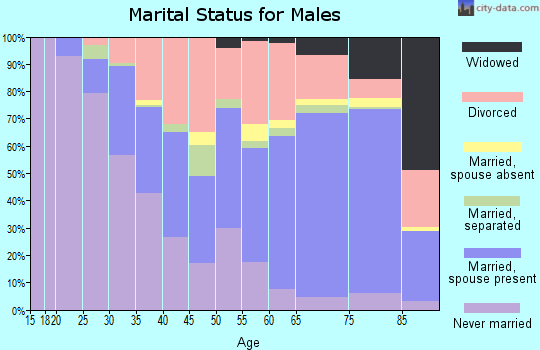 Zip code 33771 marital status for males