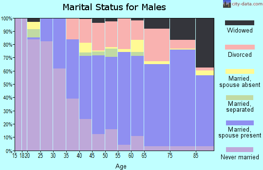Zip code 33772 marital status for males