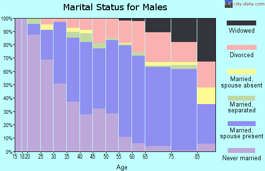Zip code 33773 marital status for males