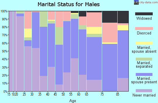 Zip code 33853 marital status for males