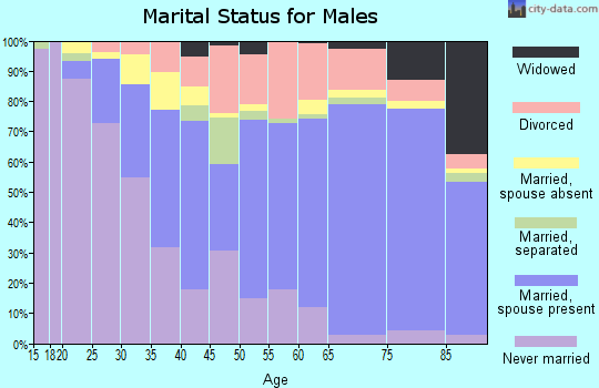 Zip code 33881 marital status for males