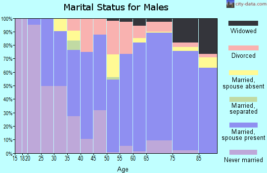 Zip code 34109 marital status for males