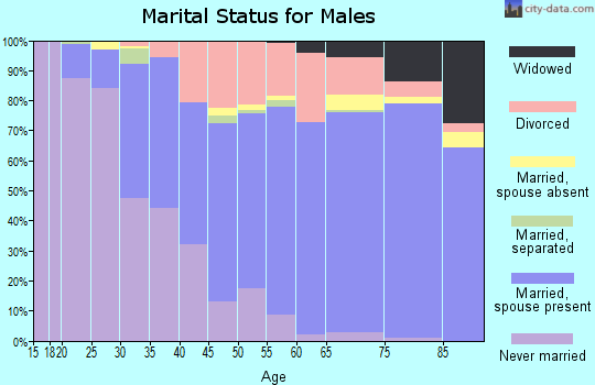 Zip code 34209 marital status for males