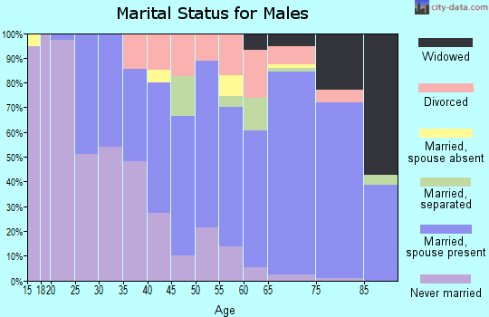 Zip code 34224 marital status for males