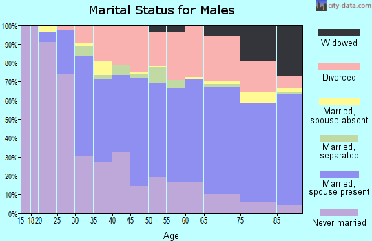 Zip code 34231 marital status for males