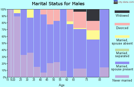 Zip code 34434 marital status for males