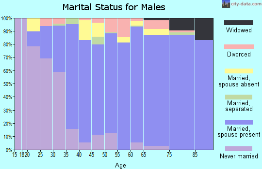 Zip code 34759 marital status for males