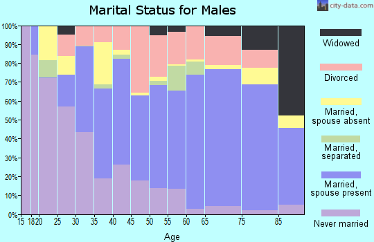 Zip code 34974 marital status for males