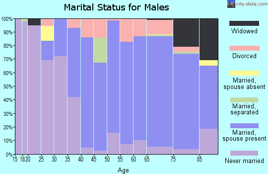Zip code 34996 marital status for males