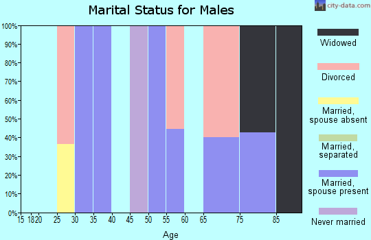 Zip code 35070 marital status for males