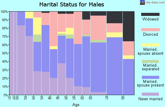 Zip code 35210 marital status for males