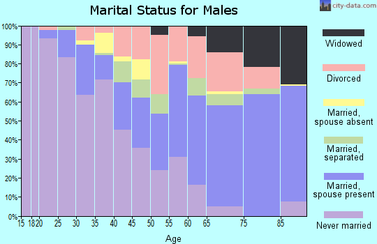 Zip code 35211 marital status for males