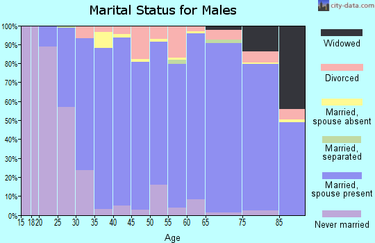 Zip code 35226 marital status for males