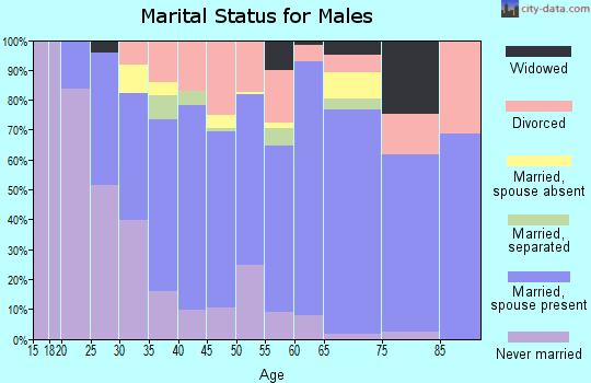 Zip code 35570 marital status for males