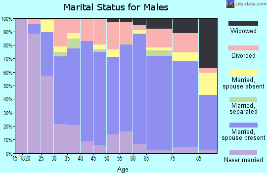 Zip code 35811 marital status for males