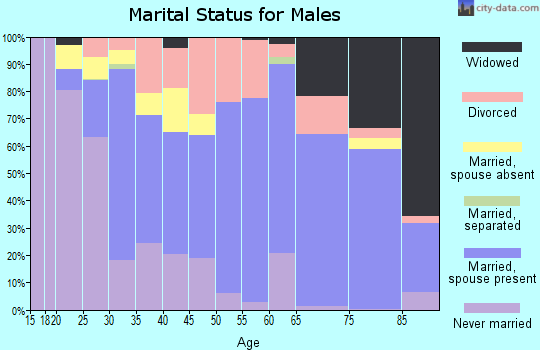 Zip code 35950 marital status for males