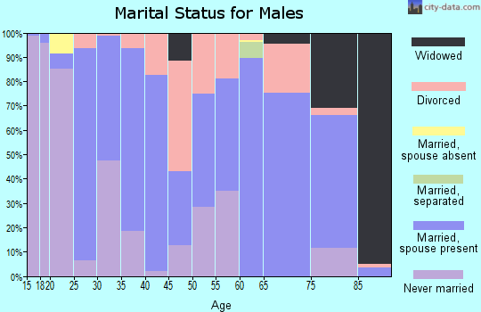 Zip code 35971 marital status for males