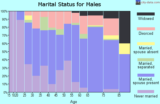 Zip code 36010 marital status for males
