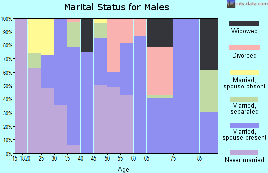 Zip code 36032 marital status for males