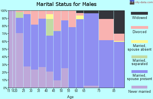 Zip code 36054 marital status for males