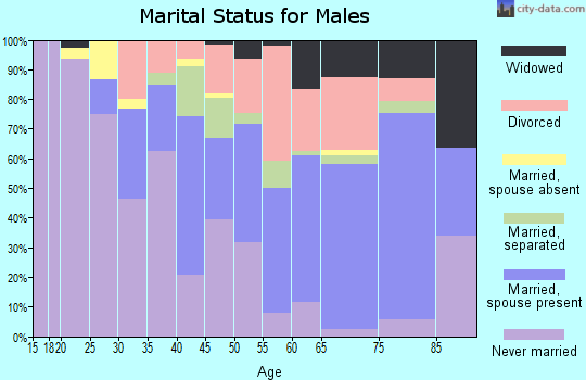 Zip code 36105 marital status for males