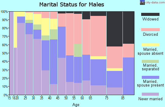 Zip code 36107 marital status for males