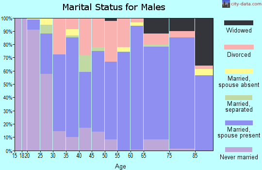 Zip code 36265 marital status for males