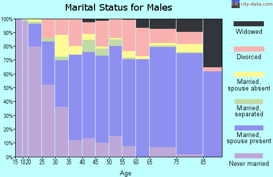 Zip code 36330 marital status for males