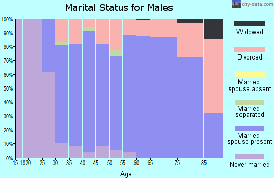 Zip code 36345 marital status for males