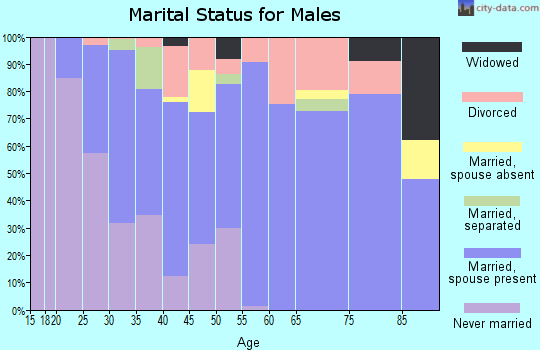 Zip code 36350 marital status for males