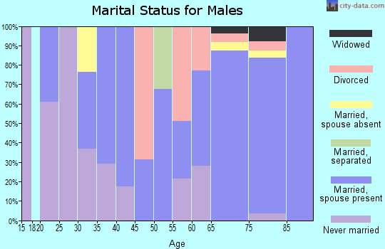 Zip code 36549 marital status for males