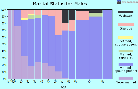 Zip code 36567 marital status for males