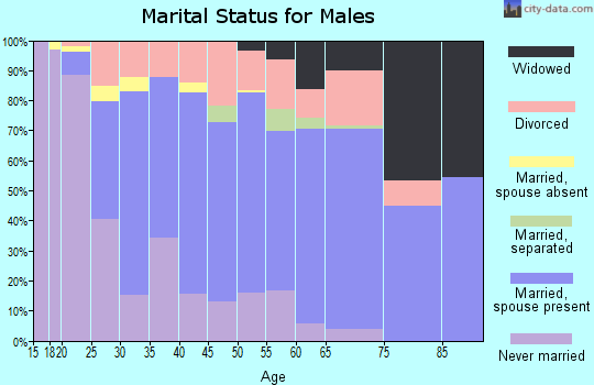 Zip code 36582 marital status for males