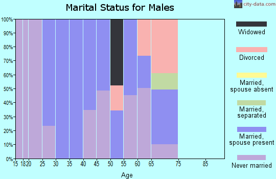 Zip code 36758 marital status for males