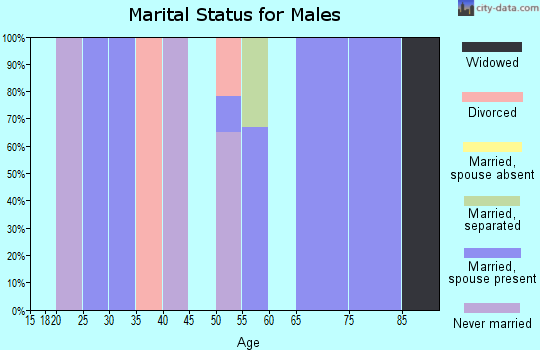 Zip code 36793 marital status for males