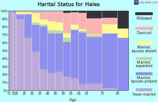 Zip code 37211 marital status for males