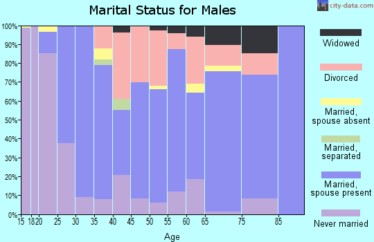 Zip code 37708 marital status for males