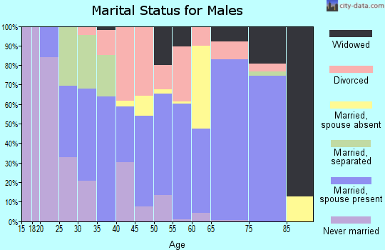 Zip code 37820 marital status for males