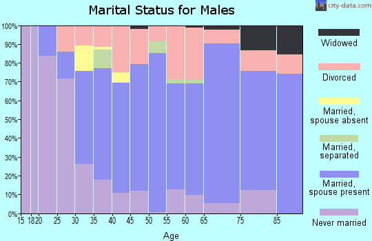 Zip code 37854 marital status for males