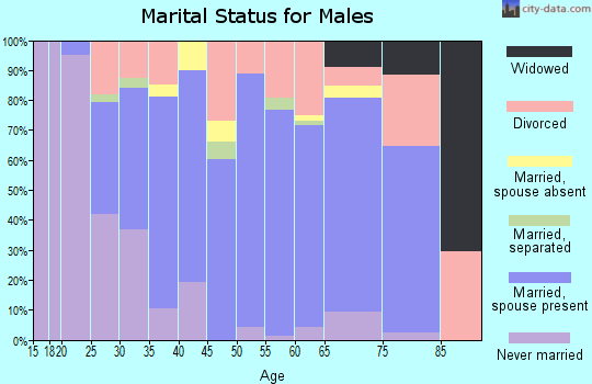 Zip code 37861 marital status for males