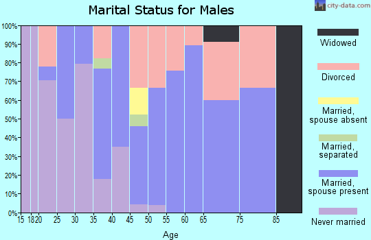 Zip code 37872 marital status for males