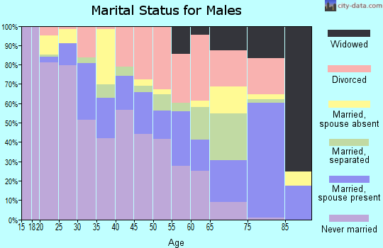 Zip code 38108 marital status for males