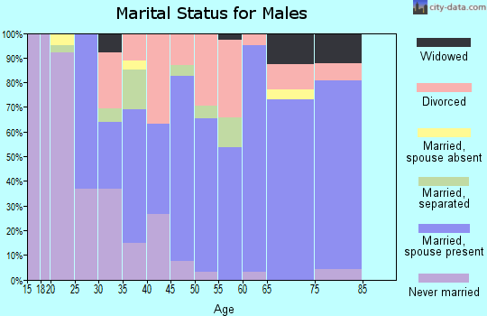 Zip code 38230 marital status for males