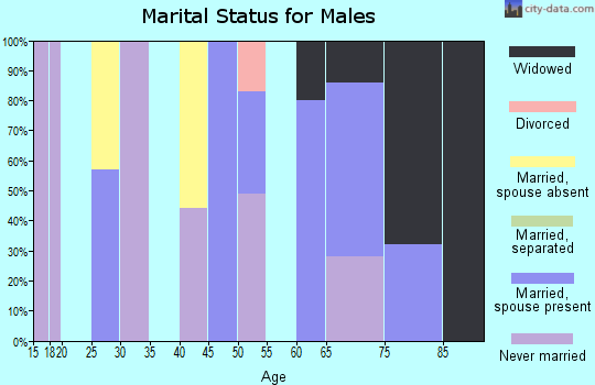Zip code 38626 marital status for males