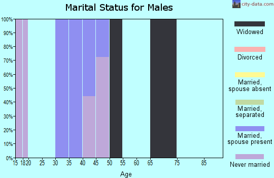 Zip code 38630 marital status for males