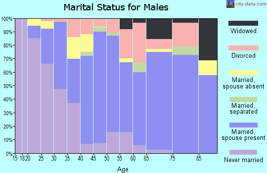 Zip code 38668 marital status for males