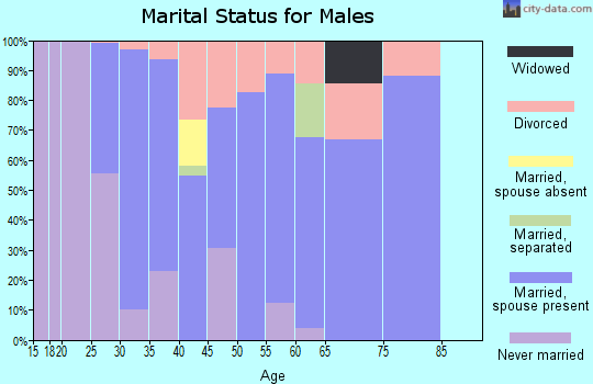Zip code 38680 marital status for males