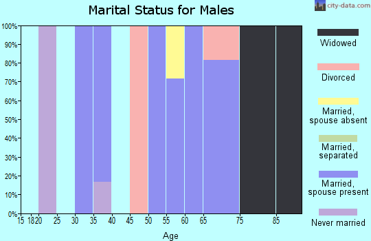 Zip code 38920 marital status for males