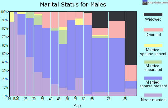 Zip code 39073 marital status for males