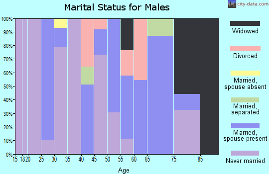 Zip code 39079 marital status for males